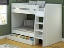 """2ft 6"""" Small Single White Royal Bunk Beds With Large Storage Drawer"""