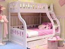 Luxury Carved Solid Wood White Triple Sleeper Bunk Beds And Drawers