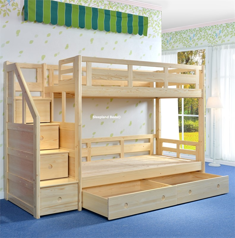 Bunk Beds With Side Stairs Uk Cameo Deluxe Bunk Beds