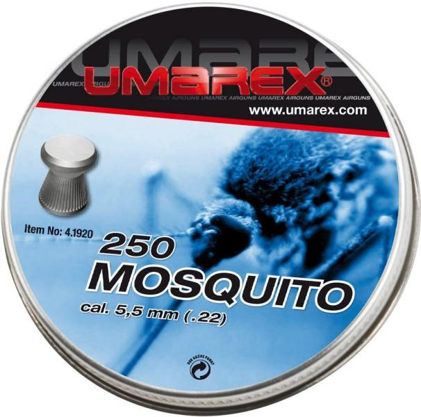 Umarex mosquito 22 pellets flat for Mosquito pellets