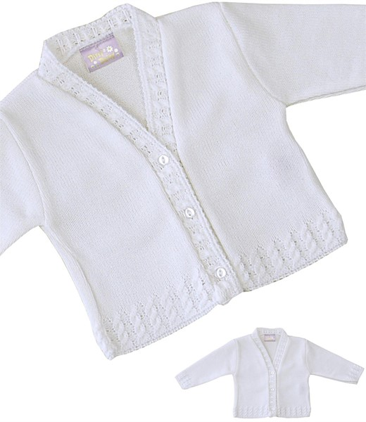 Plain Knitted Cardigan Pattern : Babyprem Plain Knit Cardigan