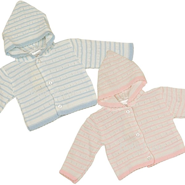 Babyprem Striped Hooded Cardigan