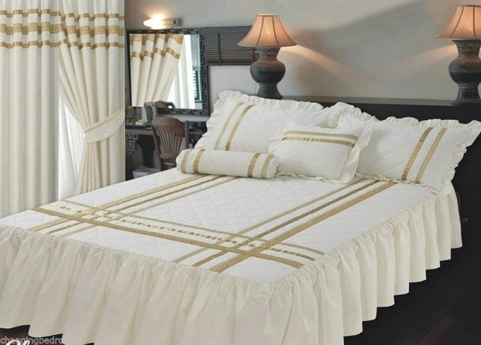 Changingbedrooms Com King Size Bed Glamour Cream Gold