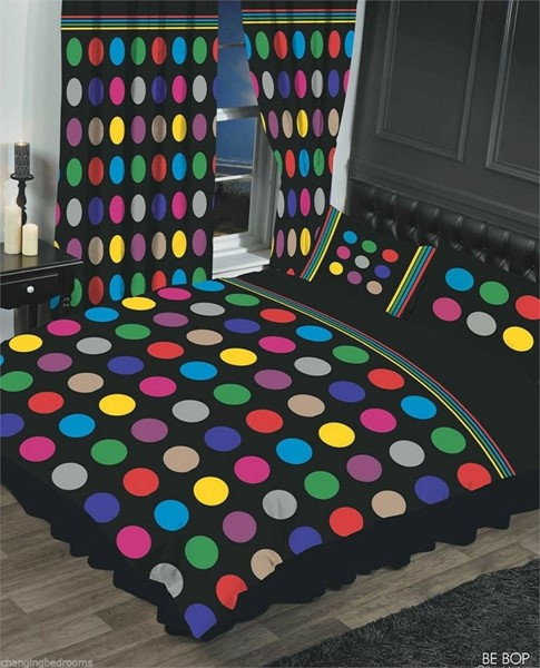 Changingbedrooms Com Superking Size Black Multi Be Bop
