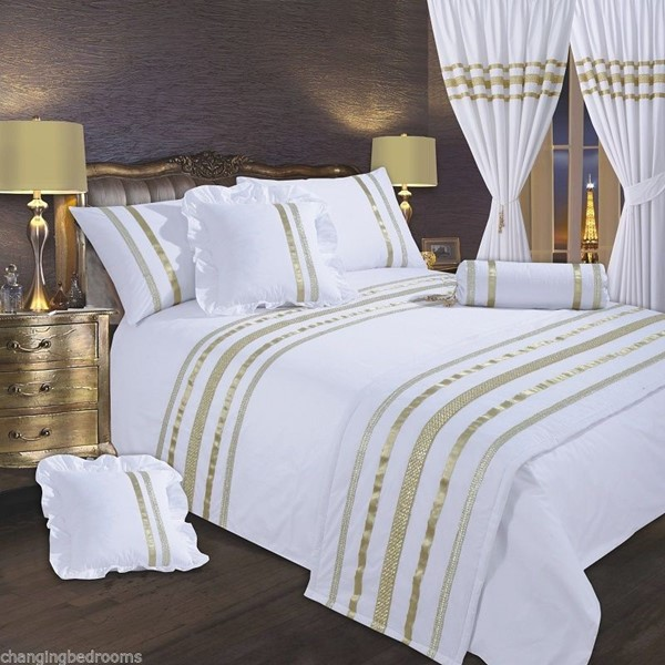 Changingbedrooms Com White Gold Trim Hollywood Glamour King Size 200