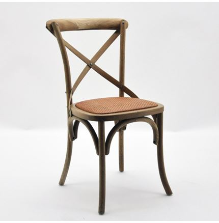 4x Cintra Cross Back / bent wood Dining Chairs - Natural oak finish