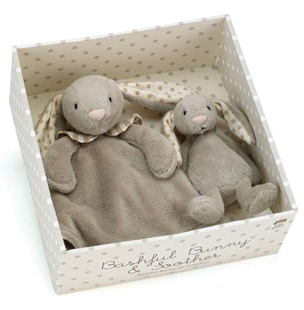 Bashful Bunny & Soother  - Boxed (by jellycat)