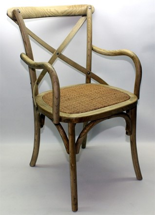 CARVER VERSION - Rhone Cross Back / bent wood Dining Chair - Natural oak