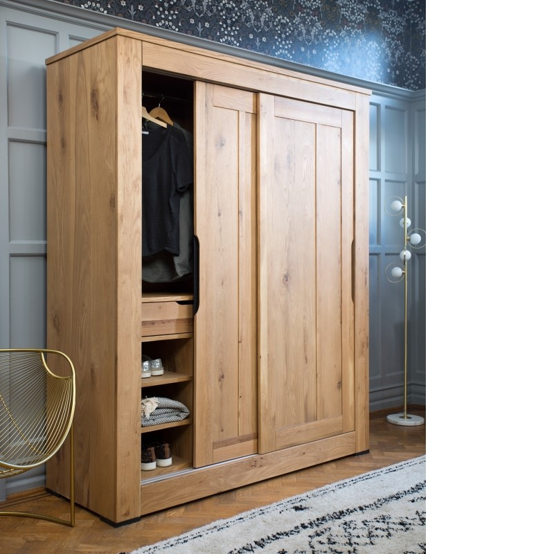 EX DISPLAY Milan Double Wardrobe + 2x bedsides