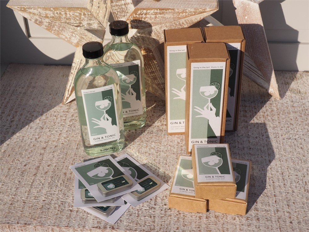 Gin & Tonic soap and toiletry range