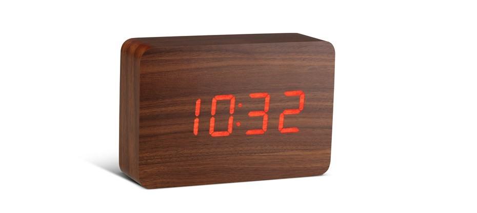 Gingko Brick Red Click Clock