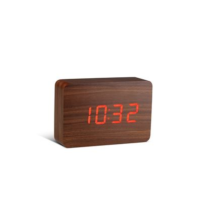 Gingko Brick Red Click Clock