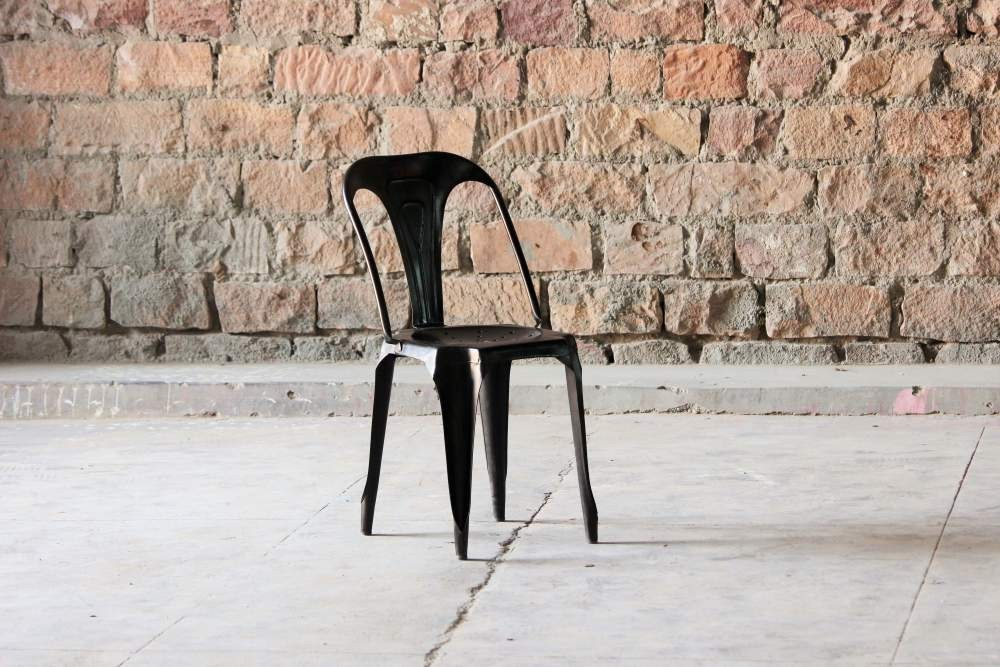 Hyatt Industrial Bakers Cafe Chair - Vintage Black