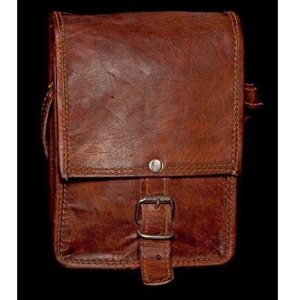 Leather Bag - Mini Square Edge Satchel