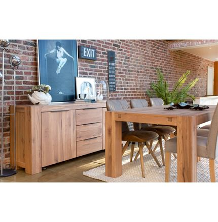Loft Dining Furniture - 160cm Dining Table - with optional extension leaf - promotion 25% Off limited period