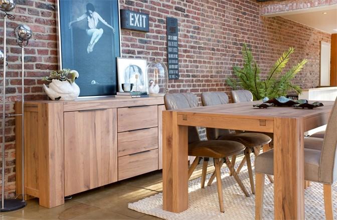Loft Dining Furniture Offer - Loft 160cm Dining Table - with extension leaf