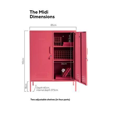 Midi Locker by Mustard Made - Berry