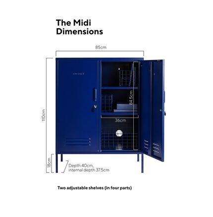 Midi Locker by Mustard Made - Navy