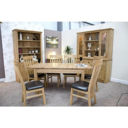 Milano (Opus) Oak Extending Dining Table - Large