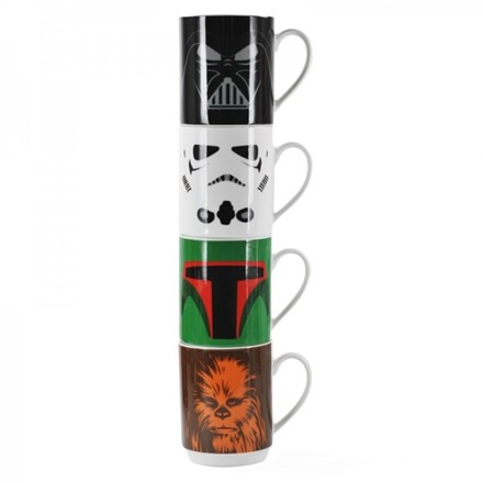 Mugs Stacking Set of 4 - Star Wars