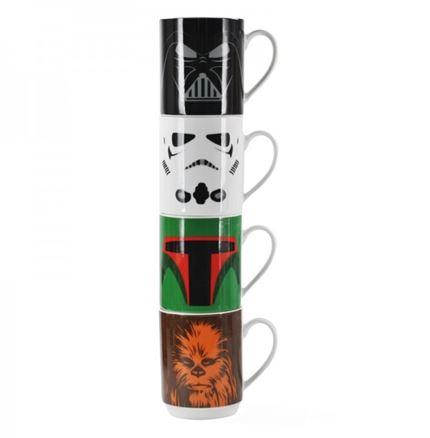 Mugs Stacking Set of 4 - Star Wars