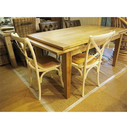 NOW SOLD - Special offer - Valence Dining Table + 6x cross back dining chairs in cream