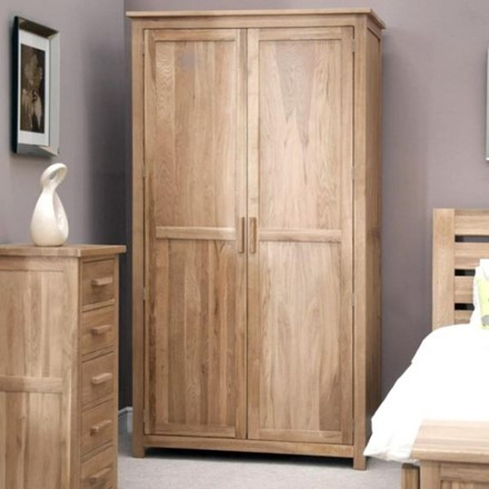 Opus Oak Wardrobe - full length