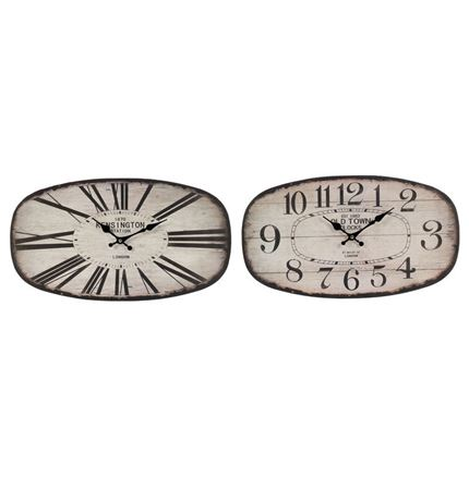 Oval Metal Clocks