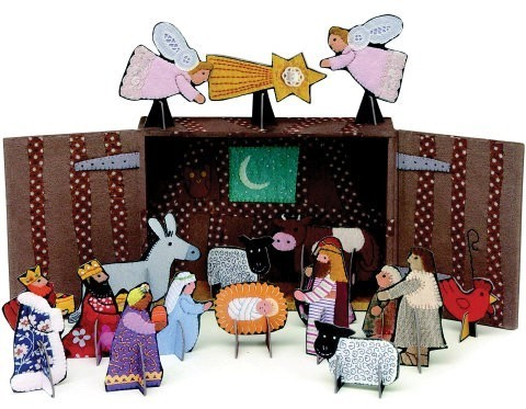 Petit (Roger) la Borde Pop & Slot Pop Up Nativity Scene