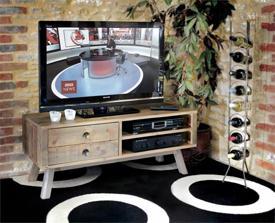 Rustica Dining Furniture - TV unit  with 2 drawers