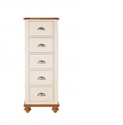 Salisbury Bedroom Furniture - 5 Drawer Tall Chest