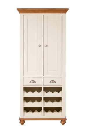 Salisbury Dining Furniture - Larder Unit - Kitchen Cupboard with Wine Rack