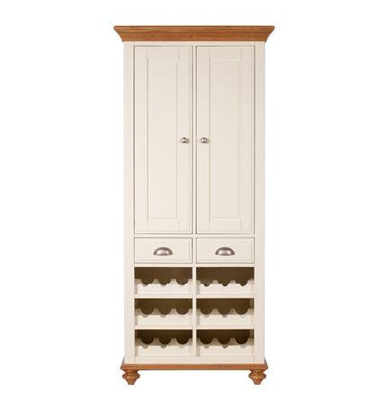 Salisbury Dining Furniture - Larder Unit - Kitchen Cupboard with Wine Rack