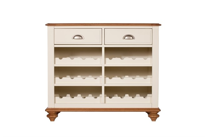 Salisbury Dining Furniture - Narrow Sideboard with Wine Rack