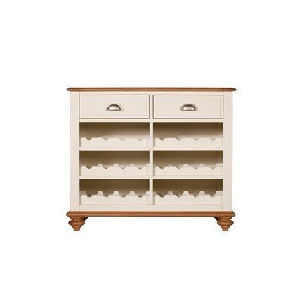 Salisbury Dining Furniture - Narrow Sideboard with Wine Rack