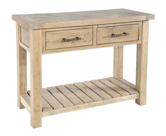 Saltash Dining Furniture - Console Table 2 Drawers & Undershelf