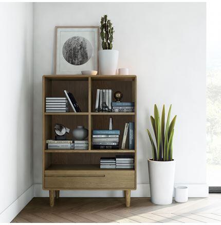 Scandic Small Bookcase - Solid Oak