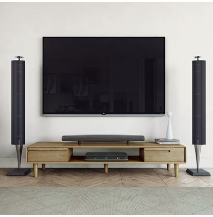 Scandic Wide TV Unit - Solid Oak