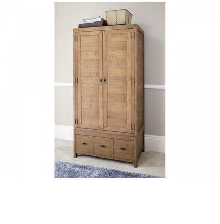 Sienna Bedroom Furniture - Large Double Wardrobe