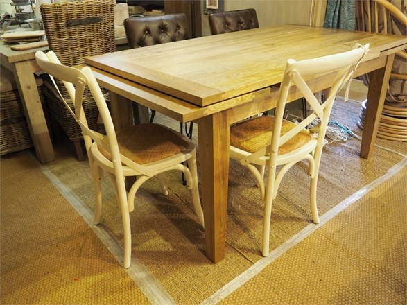 Special offer - Valence Dining Table + 6x cross back dining chairs in cream