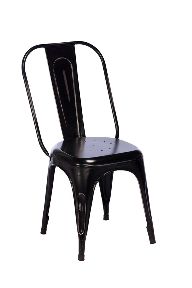 toby metal dining chair black