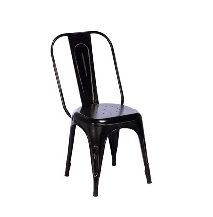 TOBY Metal Dining Chair - Black