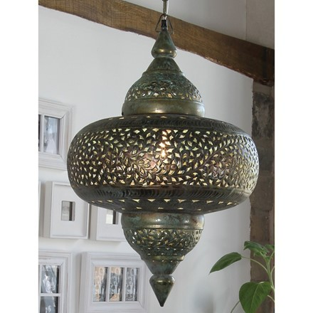 Tetouan - Antique Brass Elec Pendant