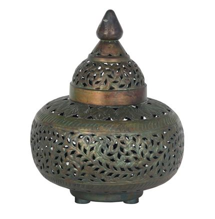 Tetouan - Antique Brass Table Lamp Complete