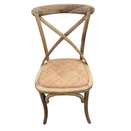 Valence Cross Back / bent wood Dining Chair - natural oak