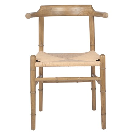 Wishbone style Chair - Oak Coloured Elm Wood