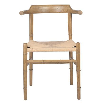 Wishbone style Chair - Oak Coloured Elm Wood