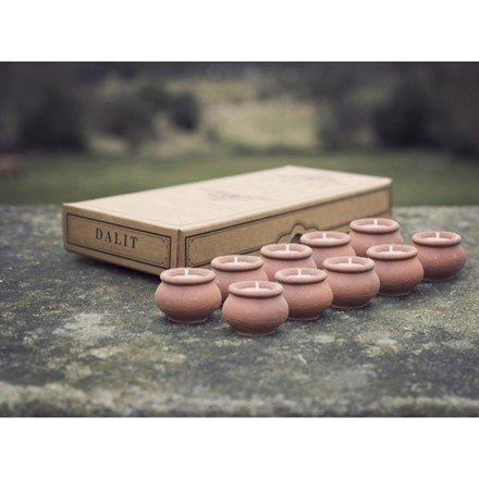 pack of 10 Tea light Pot Candles - Lavender - Dalit