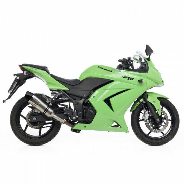 kawasaki ninja 250r leovince lv one evo slip on exhaust. Black Bedroom Furniture Sets. Home Design Ideas