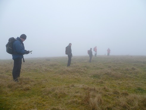 Navigation - searching for target location - mountain safety